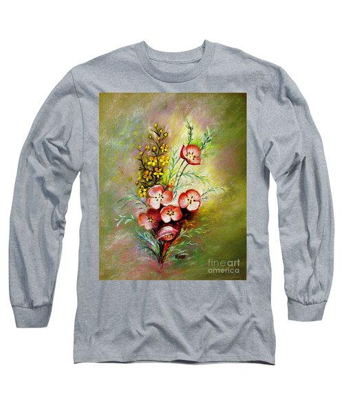 Long Sleeve T-Shirt featuring the pastel God's Smile by Hazel Holland