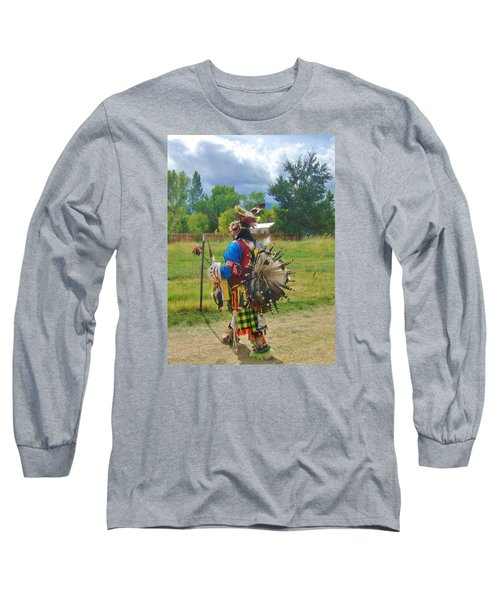 Going To The Pow Wow Long Sleeve T-Shirt by Marilyn Diaz