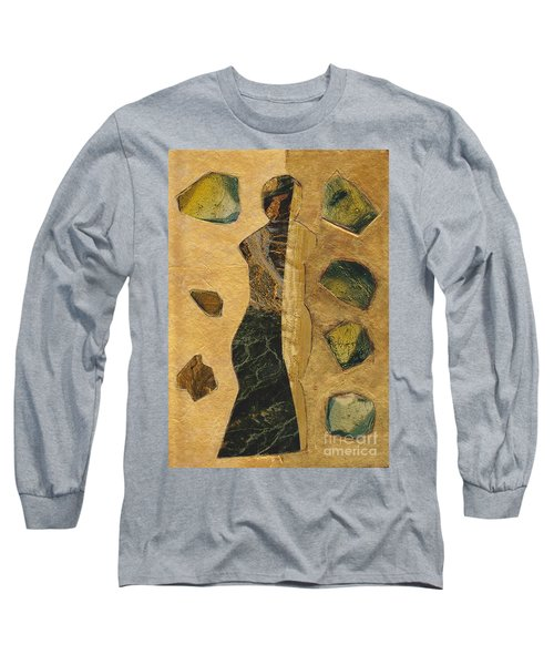 Gold Black Female Long Sleeve T-Shirt by Patricia Cleasby