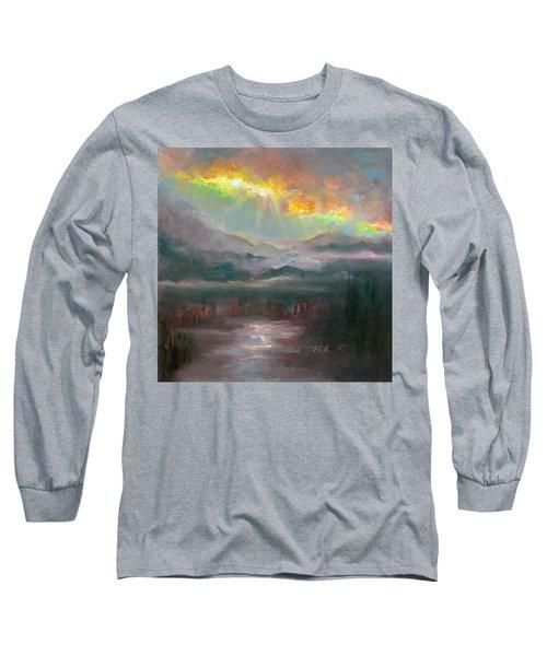 Gold Lining - Chugach Mountain Range En Plein Air Long Sleeve T-Shirt