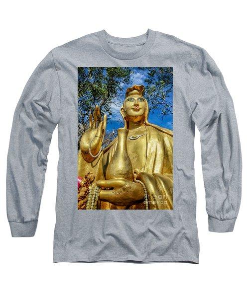 Golden Buddha Statue Long Sleeve T-Shirt