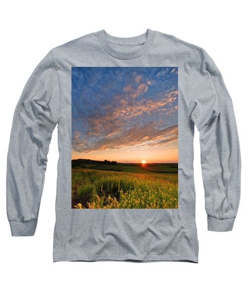 Golden Fields Long Sleeve T-Shirt by Davorin Mance