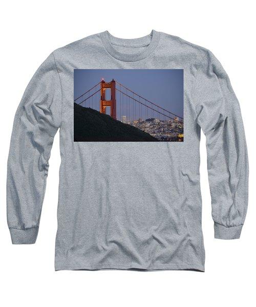 Golden Gate Bridge At Dusk Long Sleeve T-Shirt