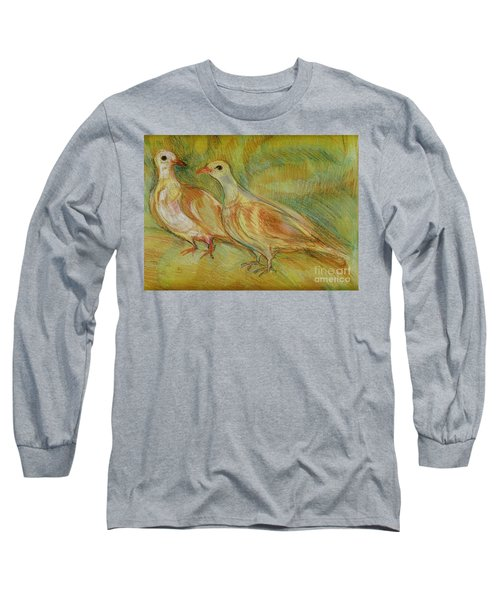 Golden Pigeons Long Sleeve T-Shirt