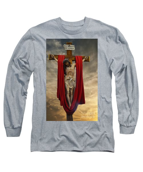 His Ultimate Gift Of Mercy - Jesus Christ Long Sleeve T-Shirt by Luther Fine Art