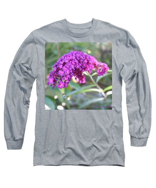 Good Morning Purple Butterfly Bush Long Sleeve T-Shirt