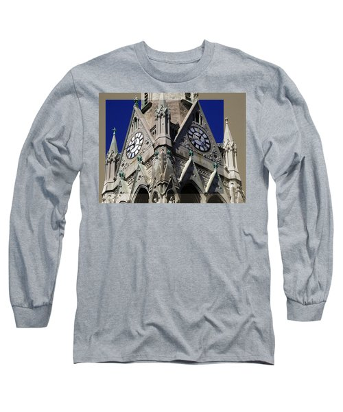 Gothic Church Clock Tower Spire Long Sleeve T-Shirt