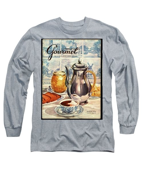Gourmet Cover Featuring An Illustration Long Sleeve T-Shirt