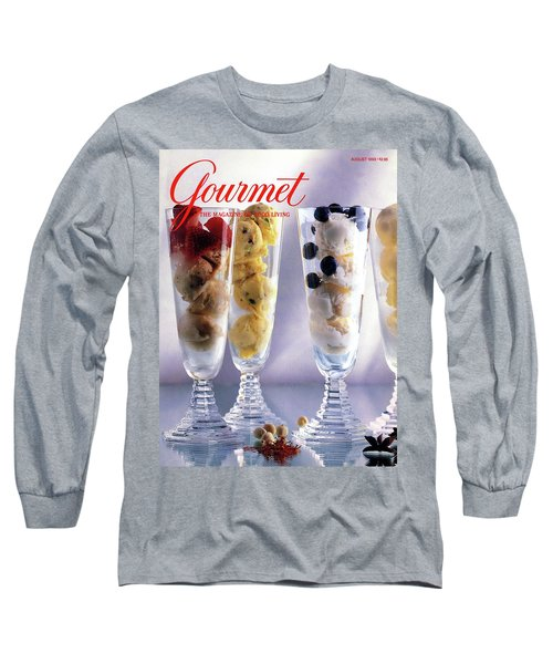 Gourmet Magazine Cover Featuring Ice Cream Long Sleeve T-Shirt