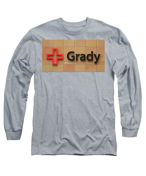 Grady Hospital Atlanta Georgia Art Long Sleeve T-Shirt