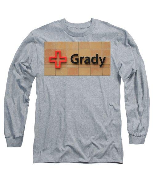 Grady Hospital Atlanta Georgia Art Long Sleeve T-Shirt