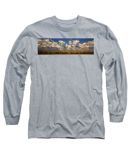 Long Sleeve T-Shirt featuring the photograph Grand Tetons by Sonya Lang