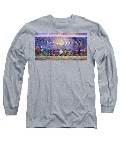 Grandmother Moon Long Sleeve T-Shirt by Lynda Hoffman-Snodgrass