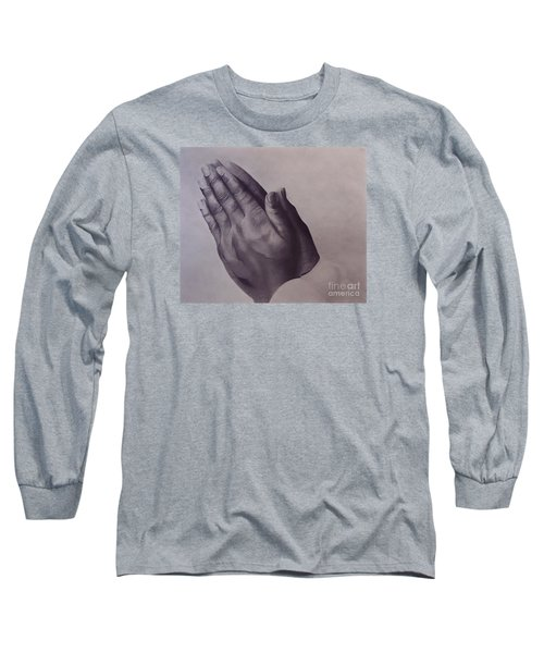 Long Sleeve T-Shirt featuring the drawing Grateful One by Wil Golden