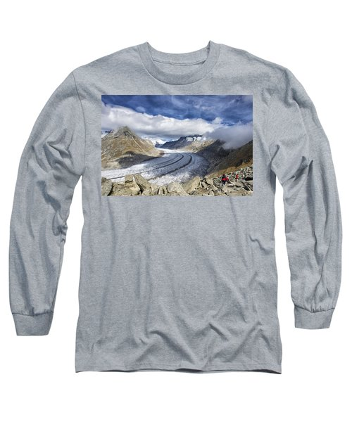 Great Aletsch Glacier Swiss Alps Switzerland Europe Long Sleeve T-Shirt