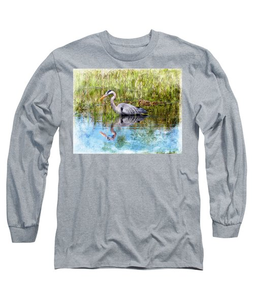 Great Blue Hunter Long Sleeve T-Shirt