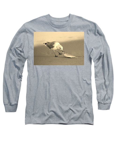 Long Sleeve T-Shirt featuring the photograph Great Catch With Fish by Cynthia Guinn