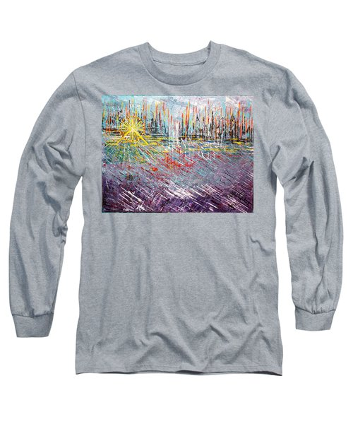Great Day In Chicago - Sold Long Sleeve T-Shirt by George Riney