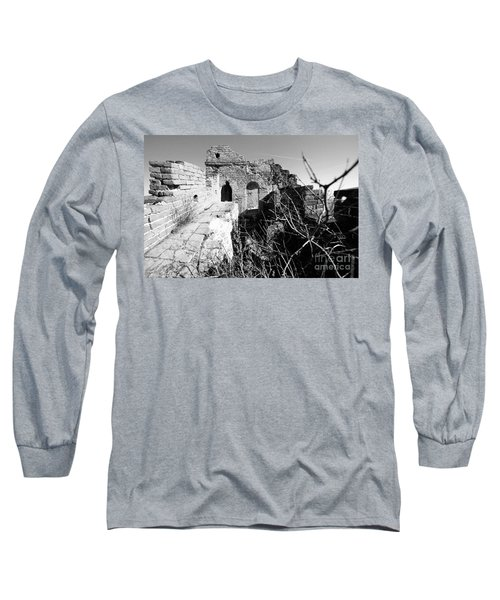 Long Sleeve T-Shirt featuring the photograph Great Wall Ruins by Yew Kwang