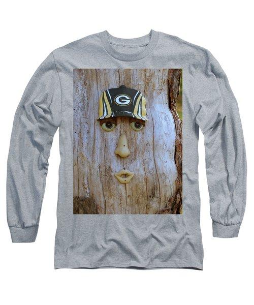 Green Bay Packer Humor Long Sleeve T-Shirt by Kay Novy