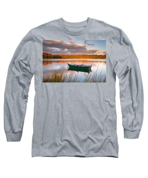 Green Boat On Salt Pond Long Sleeve T-Shirt