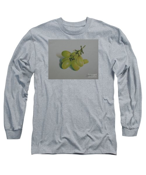 Green Grapes Long Sleeve T-Shirt by Pamela Clements