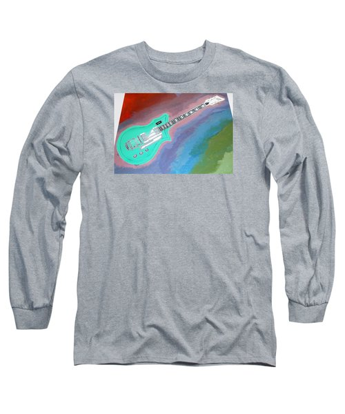 Green Guitar Long Sleeve T-Shirt