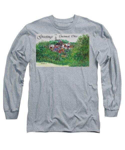 Greetings From Cincinnati Ohio Long Sleeve T-Shirt