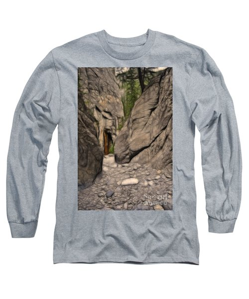 Grotto Canyon Fractal Long Sleeve T-Shirt