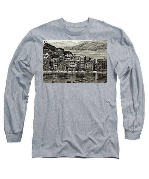 Grunge Seascape Long Sleeve T-Shirt