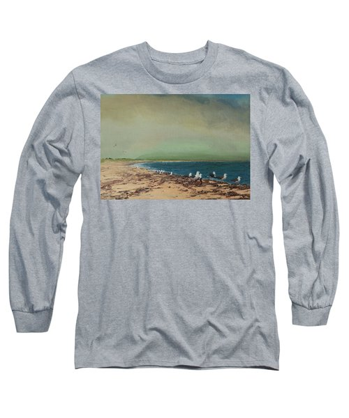 Gulls On The Seashore Long Sleeve T-Shirt