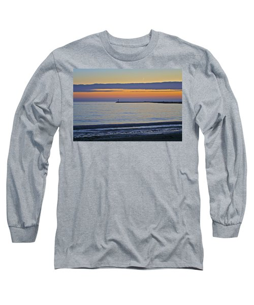 Half Moon Bay Under The Moon At Sunset Long Sleeve T-Shirt