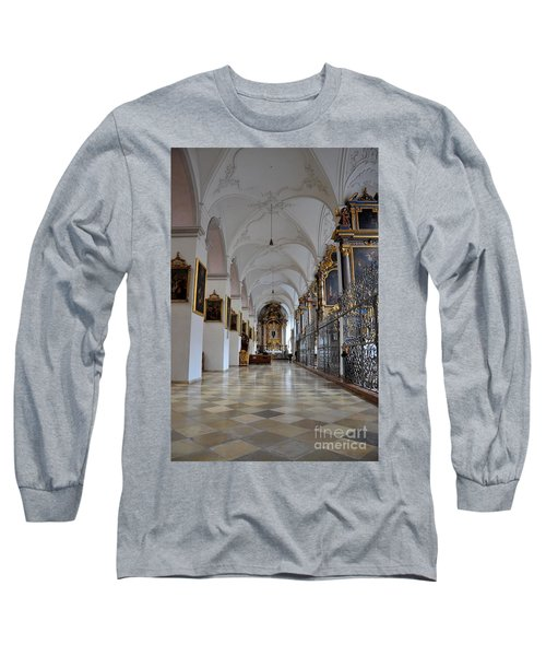 Long Sleeve T-Shirt featuring the photograph Hallway Of A Church Munich Germany by Imran Ahmed