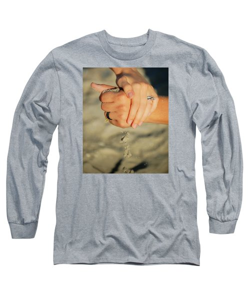 Long Sleeve T-Shirt featuring the photograph Hands Of Time by Leticia Latocki