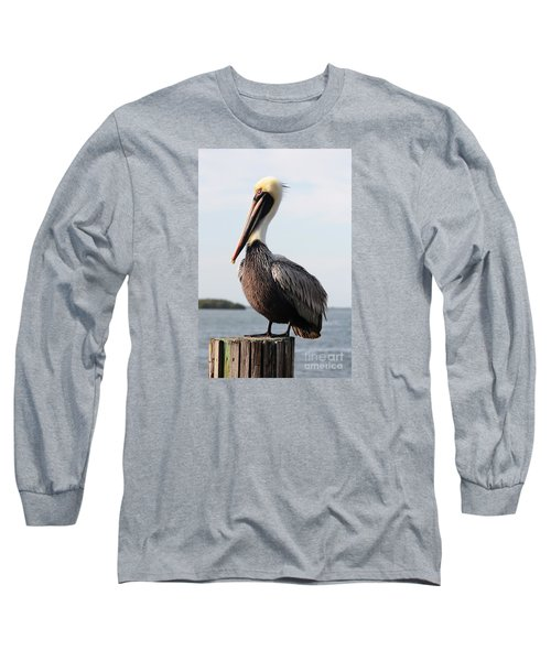 Handsome Brown Pelican Long Sleeve T-Shirt