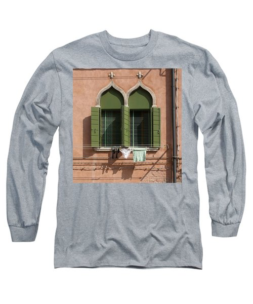 Hanging Out To Dry Long Sleeve T-Shirt by Ron Harpham