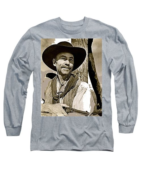 Hank Worden Publicity Photo Red River 1948-2013 Long Sleeve T-Shirt by David Lee Guss