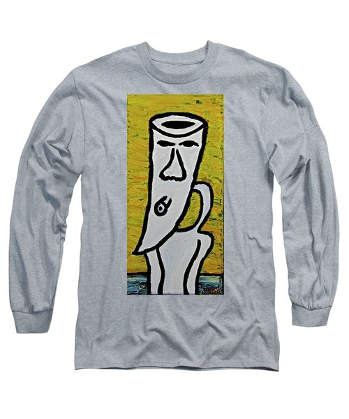 Long Sleeve T-Shirt featuring the painting Happiness 12-003 by Mario Perron