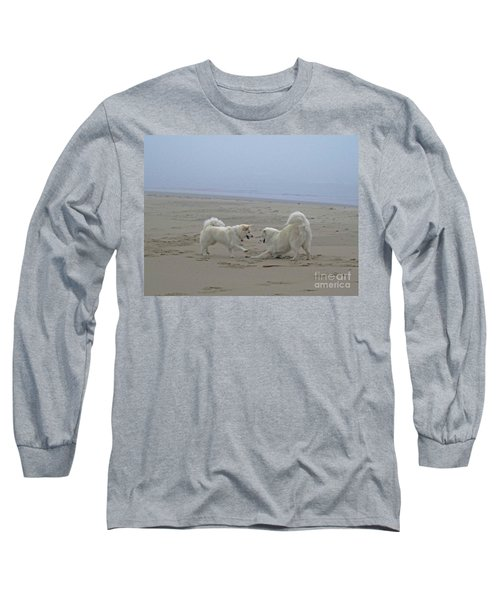 Happy Girls Beach Side Long Sleeve T-Shirt by Fiona Kennard
