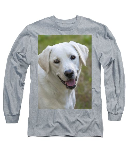 Long Sleeve T-Shirt featuring the photograph Happy Lab by Stephen Anderson