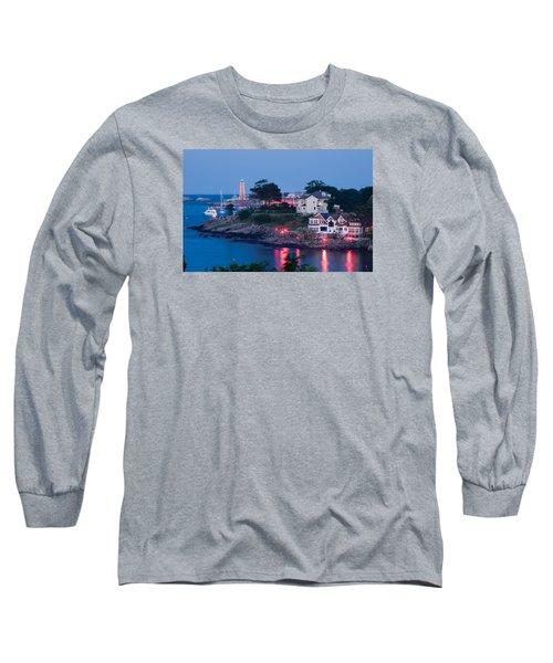 Marblehead Harbor Illumination Long Sleeve T-Shirt by Jeff Folger