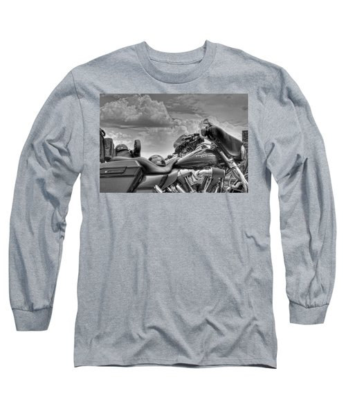 Harley Black And White Long Sleeve T-Shirt