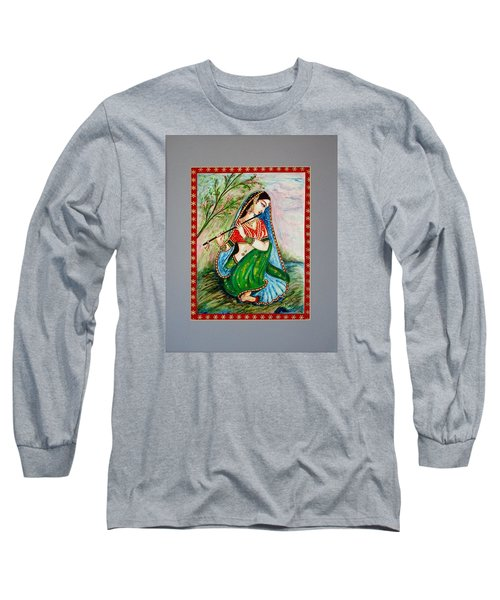 Long Sleeve T-Shirt featuring the painting Harmony by Harsh Malik