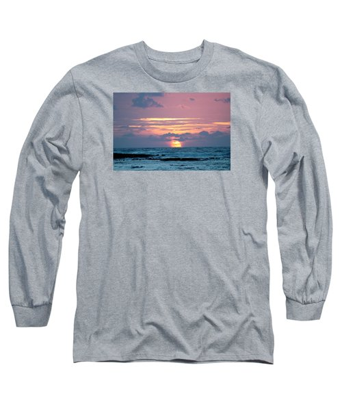 Hawaiian Ocean Sunrise Long Sleeve T-Shirt by Lehua Pekelo-Stearns