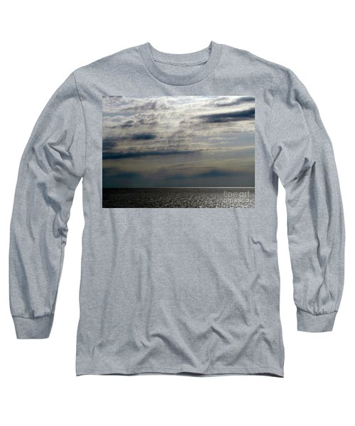 Hdr Storm Over The Water  Long Sleeve T-Shirt by Joseph Baril