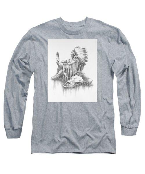 He Who Seeks A Vision Long Sleeve T-Shirt by Kim Lockman