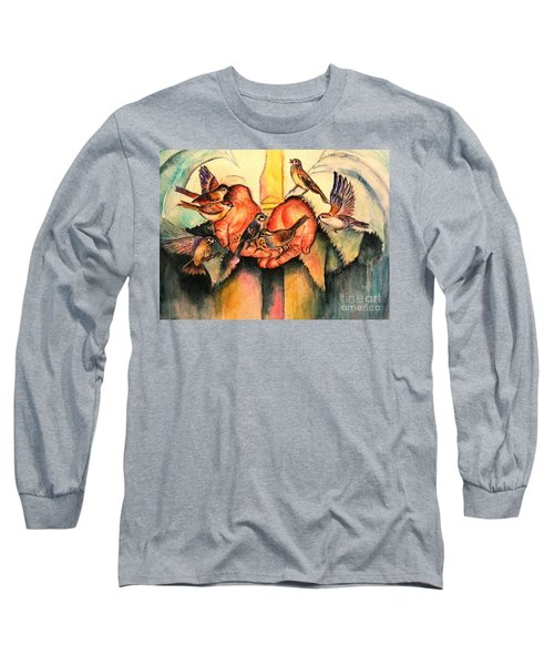 Long Sleeve T-Shirt featuring the painting He Will Provide by Hazel Holland