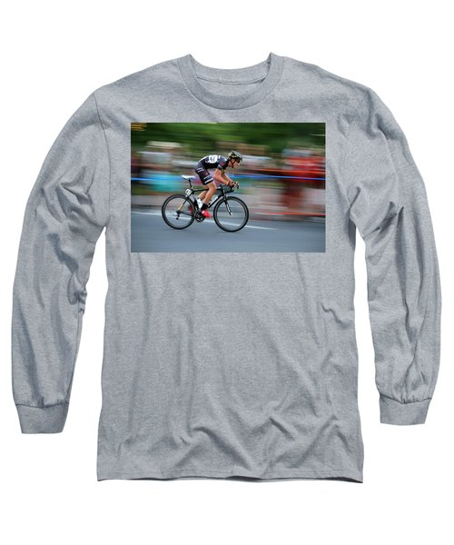 Heading For The Finish Line Long Sleeve T-Shirt by Kevin Desrosiers