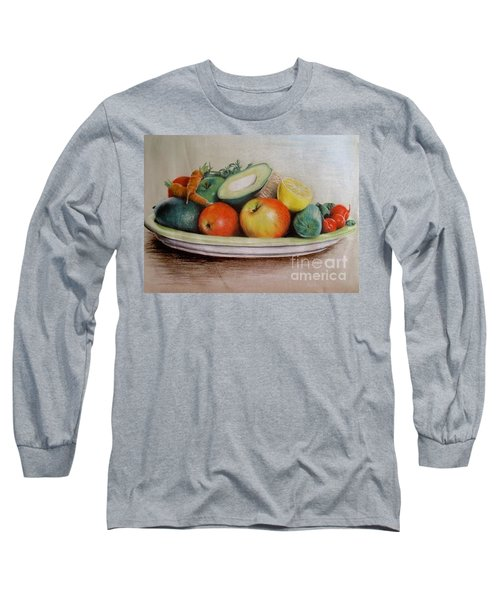 Healthy Plate Long Sleeve T-Shirt by Katharina Filus