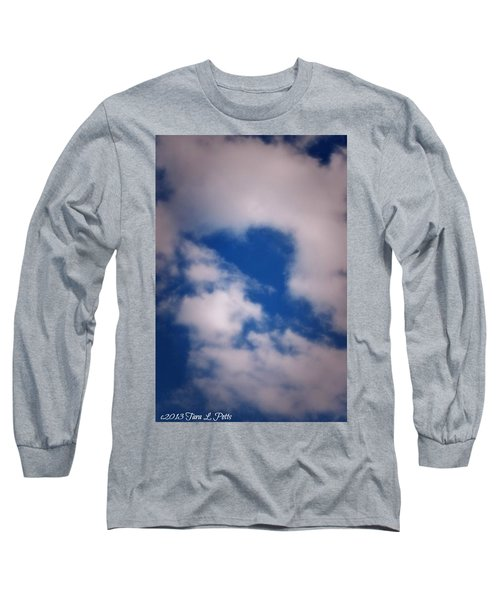 Long Sleeve T-Shirt featuring the photograph Heart In The Clouds by Tara Potts